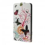 Koženkové pouzdro Flip - Motýli 01 - Huawei Ascend G700