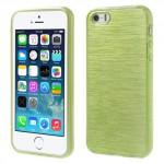 Pouzdro / Obal - Broušený vzor, žlutozelený - iPhone 5/5S