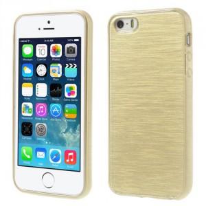 Pouzdro / Obal - Broušený vzor, zlatý - iPhone 5/5S