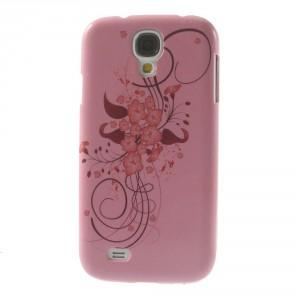 Kryt / Obal třpytivý - Květy 02 - Galaxy S4 i9500