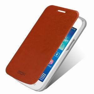 Tenké koženkové pouzdro Wallet - Galaxy Core Plus - hnědé