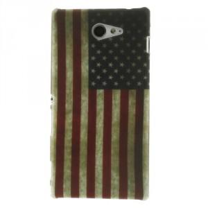 Kryt / Obal Vlajka USA Vintage - Xperia M2
