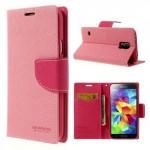 Pouzdro Fancy Diary Galaxy S5 i9600 - růžové