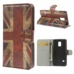 Koženkové pouzdro Wallet - Galaxy S5 Mini G800 - Union Jack Vintage