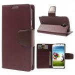 Koženkové pouzdro Premium - Galaxy S4 i9500 - vínové