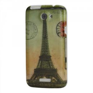 Zadní kryt/Obal HTC One X - Eiffelovka Vintage 02