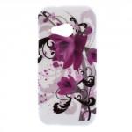 Pouzdro / Obal Květy 03 - HTC One Mini 2