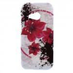 Pouzdro / Obal Květy 06 - HTC One Mini 2