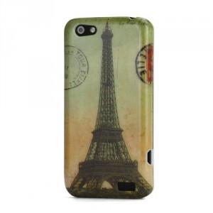 Zadní kryt/Obal HTC One V - Eiffelovka Vintage 02