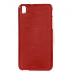 Pouzdro / Obal Broušený vzor, červený - HTC Desire 816