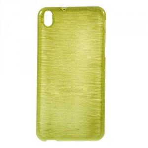 Pouzdro / Obal Broušený vzor, žlutozelený - HTC Desire 816