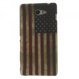 Pouzdro / Obal Vlajka USA Vintage - Xperia M2