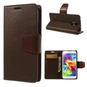 Pouzdro Sonata Diary - Galaxy S5 i9600 - hnědé