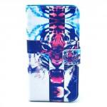 Koženkové pouzdro - Galaxy S5 i9600 - Tygr