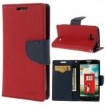 Pouzdro Fancy Diary - LG L90 Dual - červené-tmavě modré