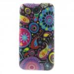 Pouzdro / Obal Květy 01 - HTC Desire 310