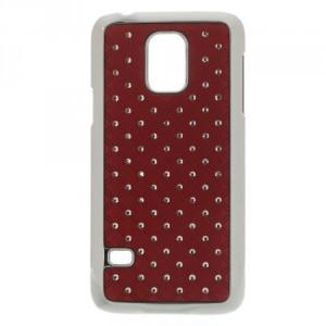 Kryt / Obal Galaxy S5 Mini G800 - Červený s kamínky