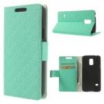 Pouzdro Wallet - Galaxy S5 Mini G800 - Tyrkysové vzorované