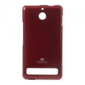 Obal Xperia E1 - Jelly Case - Červený lesklý třpytivý