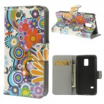 Koženkové pouzdro Wallet - Galaxy S5 Mini G800 - Květy 08