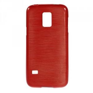 Pouzdro / Obal - Broušený vzor, červený - Galaxy S5 Mini G800