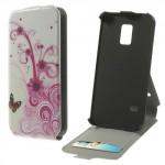 Koženkové pouzdro Flip - Galaxy S5 Mini G800 - Květy 02