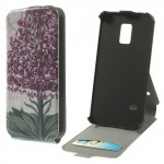 Koženkové pouzdro Flip - Galaxy S5 Mini G800 - Květ 03
