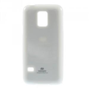 Obal Jelly Case - Galaxy S5 Mini G800 - Bílý lesklý třpytivý