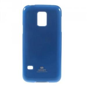 Obal Jelly Case - Galaxy S5 Mini G800 - Modrý lesklý třpytivý