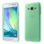 Pouzdro / Obal - Broušený vzor, zelený - Galaxy A3