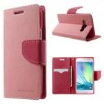 Pouzdro Fancy Diary - Růžové-fuchsia - Galaxy A3