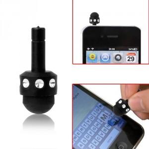 Ozdoba na mobil se stylusem - černá s kamínky