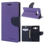 Pouzdro Fancy Diary - fialové-tmavě modré - Galaxy A5