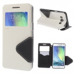 Pouzdro S-View - bílé-černé - Galaxy A5