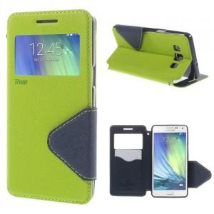 Pouzdro S-View - zelené-tmavě modré - Galaxy A5