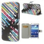Tenké pouzdro Wallet - Galaxy Grand 2 - Hvězdy