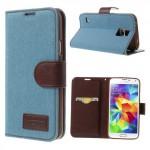 Pouzdro Jeans Galaxy S5 - světle modré