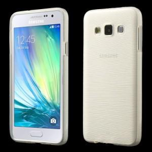 Pouzdro / Obal - Broušený vzor, bílý - Galaxy A3