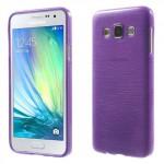 Pouzdro / Obal - Broušený vzor, fialový - Galaxy A3