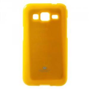 Obal Jelly Case - Galaxy Core Prime G360 - Žlutý lesklý třpytivý