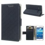 Pouzdro Wallet tmavě modré vzorované - Galaxy Express 2