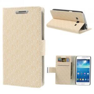 Pouzdro Wallet béžové vzorované - Galaxy Express 2