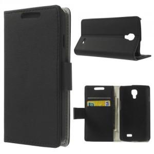 Koženkové pouzdro Wallet LG F70 - Černé
