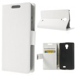 Koženkové pouzdro Wallet LG F70 - Bílé
