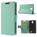 Koženkové pouzdro Wallet LG F70 - Tyrkysové