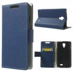 Koženkové pouzdro Wallet LG F70 - Modré