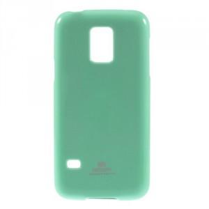 Obal Jelly Case - Galaxy S5 Mini G800 - Turkysový lesklý třpytivý