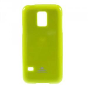 Obal Jelly Case - Galaxy S5 Mini G800 - Zelený lesklý třpytivý