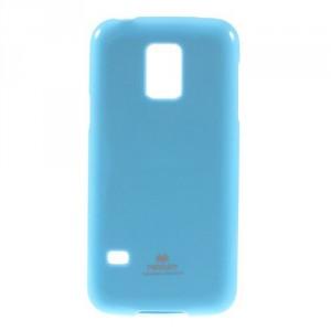 Obal Jelly Case - Galaxy S5 Mini G800 - Světle modrý lesklý třpytivý