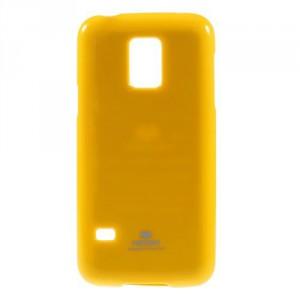 Obal Jelly Case - Galaxy S5 Mini G800 - Žlutý lesklý třpytivý
